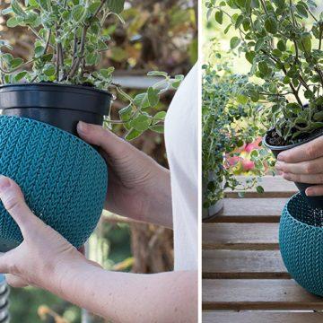 KNIT Style Planters Decor Pots